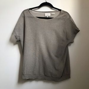 Anthropologie by Numph Mauve Gray Sheer Top